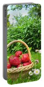 A Basket Of Strawberries Portable Battery Charger