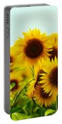 A Beautiful Sunflower Field Portable Battery Charger