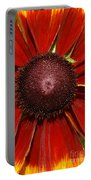A Big Orange And Yellow Flower Portable Battery Charger