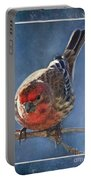 A Blue Morning Housefinch Portable Battery Charger