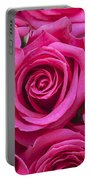 A Bouquet Of Pink Roses Portable Battery Charger