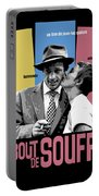 A Bout De Souffle Movie Poster Portable Battery Charger
