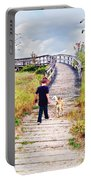 A Boy And His Dog Portable Battery Charger