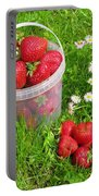 A Bucket Of Strawberries Portable Battery Charger