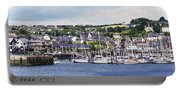 A Busy Harbour And Waterfrontkinsale Portable Battery Charger