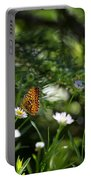 A Butterfly's World Portable Battery Charger by Belinda Greb