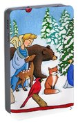 A Christmas Scene 2 Portable Battery Charger