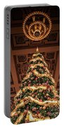 A Christmas Tree At Union Station Portable Battery Charger