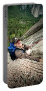 A Climber Reaches His Hand In A Crack Portable Battery Charger