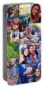 A Collage Of The Fresh Market In Kusadasi Turkey Portable Battery Charger