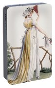 A Country Style Ladies Dress Portable Battery Charger