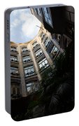 A Courtyard Curved Like A Hug - Antoni Gaudi's Casa Mila Barcelona Spain Portable Battery Charger