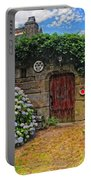 A Courtyard In Brittany France Portable Battery Charger