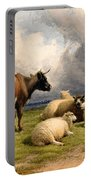 A Cow And Five Sheep Portable Battery Charger