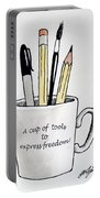 A Cup Of Tools To Express Freedom Portable Battery Charger