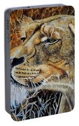 A Curious Lioness Portable Battery Charger