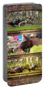 A Day At The Races Portable Battery Charger