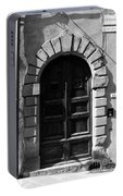 A Door In Tuscany Bw Portable Battery Charger