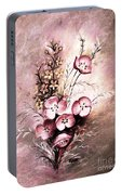 A Dusty Rose Bouquet Portable Battery Charger