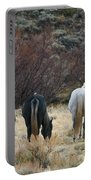 A Family Of Three - Wild Horses - Green Mountain - Wyoming Portable Battery Charger