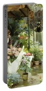 A Flower Market In Paris Portable Battery Charger