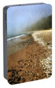 A Foggy Day At Pier Cove Beach 2.0 Portable Battery Charger