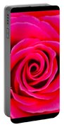 A Fuschia Pink Rose Portable Battery Charger