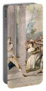 A Game Of Blind Mans Buff, C.late C18th Portable Battery Charger