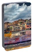 A Genesis Sunrise Over The Old City Portable Battery Charger by Ronsho