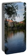 A Glimpse Through The Trees - Bruges Belgium Portable Battery Charger