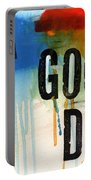 A Good Day- Abstract Painting  Portable Battery Charger by Linda Woods