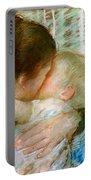 A Goodnight Hug  Portable Battery Charger by Mary Stevenson Cassatt
