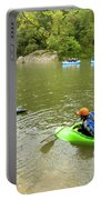 A Group Of Kayakers, Rafters Portable Battery Charger
