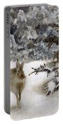A Hare In The Snow Portable Battery Charger