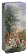 A Kermesse On St. Georges Day Portable Battery Charger by Angel-Alexio Michaut