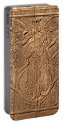 A King Carved In Wood Portable Battery Charger