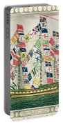 A King S Ship Dressed With The Colours Of Different Nations 6th October 1794 Portable Battery Charger