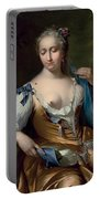 A Lady In A Landscape With A Fly On Her Shoulder Portable Battery Charger