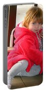 A Little Girl In Red Portable Battery Charger