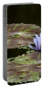 A Little Lavendar Water Lily Portable Battery Charger