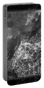A Magical Face In The Water Abstract Black And White Painting Portable Battery Charger