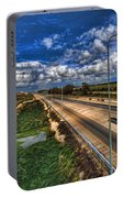 a majestic springtime in Israel Portable Battery Charger