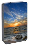 A Majestic Sunset At The Port Portable Battery Charger