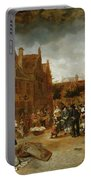 A Marketplace In Winter, 1653 Portable Battery Charger