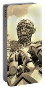 A Maze Ing Man 6 Sepia Portable Battery Charger