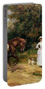 A Meeting By A Stile  Portable Battery Charger by Heywood Hardy