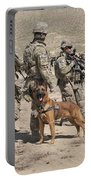 A Military Working Dog Accompanies U.s Portable Battery Charger