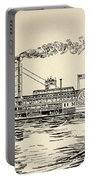 A Mississippi Steamer Off St Louis From American Notes By Charles Dickens  Portable Battery Charger by EH Fitchew