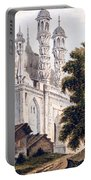 A Mosque At Gazipoor Portable Battery Charger by William Hodges
