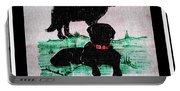A Newfoundland Dog And A Labrador Retriever Portable Battery Charger